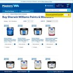 Masters Home Improvement - 50% off All Sherwin Williams Paint + More