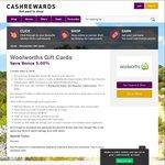 Woolworths WISH eGift Cards 5.3% off @ Cashrewards