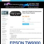 Epson TW9300 with Bonus Xbox One S & 4 Latest Games for $4799 + $25.45 Shipping @ Oz Theatre Screens