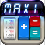 FREE- iOS App MaxiCalc Pro: Big Retro LCD Paper Tape Calculator (iPad Only)