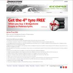 Costco Tyres - Bridgestone Buy 3 & Get The 4th for Free (Membership Required)