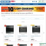 10% off Cooking (Ovens, Cooktops, Range Hoods) @ The Good Guys