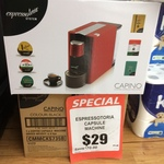 Espressotoria Coffee Machines $29.00 Save $70 at Romeo's Foodland