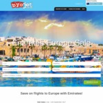 Take $60 off Your Emirates Flight to Europe @ BYOjet