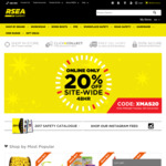 RSEA Safety (Workwear and Safety Equipment) 20% OFF Online Site Wide, CC available