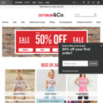 Cotton on Upto 50% off. Dresses, Active Wear, Sneakers and Tees from $10