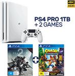 PlayStation 4 Pro 1TB Glacier White Console + 2 Games $549 @ EB Games