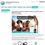Win 2 Pairs of Sudio Wireless Earphones Plus Accessories (Worth $588) from ISIC