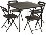 5 Piece Table and Chairs Set Black $49 (Free C&C or in Store) @ Officeworks