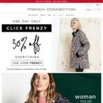 French Connection. - 30% off Site Wide (Including Sale) & Free Shipping over $50
