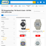 40% off Listed Price on Selected TW Steel & Casio G-Shock Watches + $9.95 Shipping @ Catch.com.au
