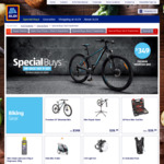 29er Mountain Bike $349, Kids Trailer $149, Stand $39.99, Hydration Backpack $29.99, Tool Kit $39.99, Bike Pump $12.99 @ ALDI