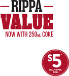 Half Rippa Roll, Small Chips and 250ml Coke for $5 ($6 in NT) @ Red Rooster
