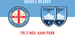 (VIC) FREE Family GA Ticket to A-League & W-League Melbourne City vs Sydney FC @ AAMI Park on 2 Nov 2018 (RRP $68)