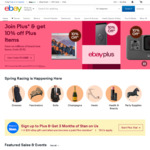 10% off, 7% off, 5% off or 3% off Eligible Items @ eBay