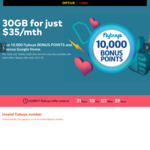 Optus $35 SIM Only Plan: Unlimited Calls & Text, 30GB Data, Some Intl Minutes +1 Month Free + Google Home + 10000 Flybuys Points