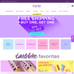 Buy 1 Get 1 50% Off Including Sale + Free Shipping - Sale Items from $7 @ Tarte Cosmetics