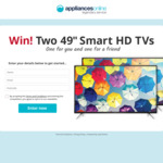"""Win Two TCL 49"""" HD TVs Worth $1,536 from Appliances Online"""