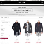 Politix - 20% off Full Price Jackets & Buy 2 Suits for $595