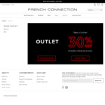 Further 30% off Already Reduced Sale and Outlet Prices @ French Connection
