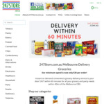 [VIC] $5 off First 1-Hour Grocery Delivery in Melbourne @ 247Store.com.au