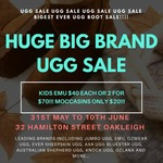 [VIC] UGG Boot Long Weekend Sale (e.g. Kids EMU Boots 2 for $70) @ UGG Outlet Sale, Oakleigh
