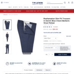 84% Wool 16% Mohair Trousers $28.90 (Was $270), Sizes from 76 up to 117cm + $10 Shipping (Free over $119) @ T.M.Lewin