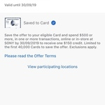 AmEx Statement Credits: Spend $500, Get $150 Back @ Sony