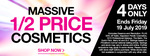 1/2 Price Cosmetics (Excl Essence, Natio, Revolution) 30% off NYX, N. Perdis, ELF, The Balm, Barry M, Quick Flick @ Priceline