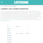 Claim 100% Cashback on a Purchase of Listerine Total Care 500ml Mouthwash As EFTPOS Gift Card @ Listerine