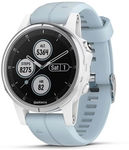 Garmin Fenix 5s Plus White - Seafoam Band $499 Delivered @ Rebel Sport