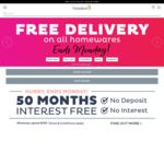 Free Delivery on Homewares @ Freedom Furniture