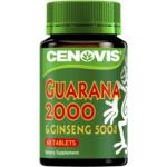 50% off Cenovis Guarana 2000mg & Ginseng 500mg 60pk $8 @ Woolworths
