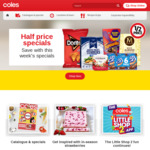 Save $10 on Every Click and Collect Shop ($150 Minimum Spend) @ Coles Online