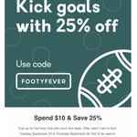 25% off Lunch Orders over $10 @ Skip App