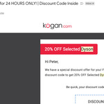 20% off Selected Dyson - Dyson Cyclone V10 Animal Cordless Vacuum $479 Delivered (AU Stock) @ Kogan