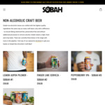 Black Friday/Cyber Monday - 30% off Sobah Non-Alcoholic Beers & Merchandise