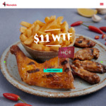 $11 WTF Deal – 1/4 Chicken, 4 Ribs & Regular Side on Wed/Thu/Fri (Everyday for Members) @ Nando's