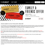 Event Cinemas $8.50 Original or $25 Gold Class Movie Evouchers (Valid 17 Feb - 18 Mar, Excl VIC/TAS)