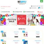 Flat 5% off on Anniversary Sale @ Vetsupply