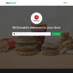 Free Delivery on Orders over $25 at McDonald's via Uber Eats