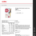 ½ Price The Spice Tailor Varieties $2.75 @ Coles