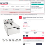 Nisbets 3kW 5L Commercial Deep Fryer $109.89 + Delivery (Free to Metro Syd, Melb, Bris) @Nisbets