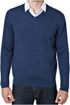 Rough Dress Men's V-Neck Merino Wool Blend Sweater (Grey/Charcoal/Blue) $29.98 Delivered @ Costco (Paid Membership)