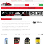 20% off Optimum Nutrition ($9.95 Delivery, Free Over $150 Spend) @ Nutrition Warehouse (Online)