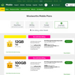 365 Day Long Expiry Pre-Paid Phone Plan (Unlimited Call & Text, 100GB Data) $150 @ Woolworths Mobile (Online Only)