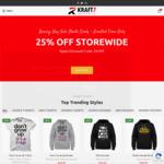 Boxing Day: 25% off Storewide @ Kraft7 Australia