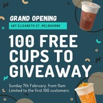 [VIC] 1 Free Cup of Dairy-Free Tea to The First 100 Visitors on Sunday 7 Feb @ Nuttea, Elizabeth St Store