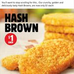 Hash Browns $1 All Day @ Hungry Jack's