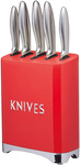 KitchenCraft Lovello Knife 5pc Set Red $50 Delivered @ Myer
